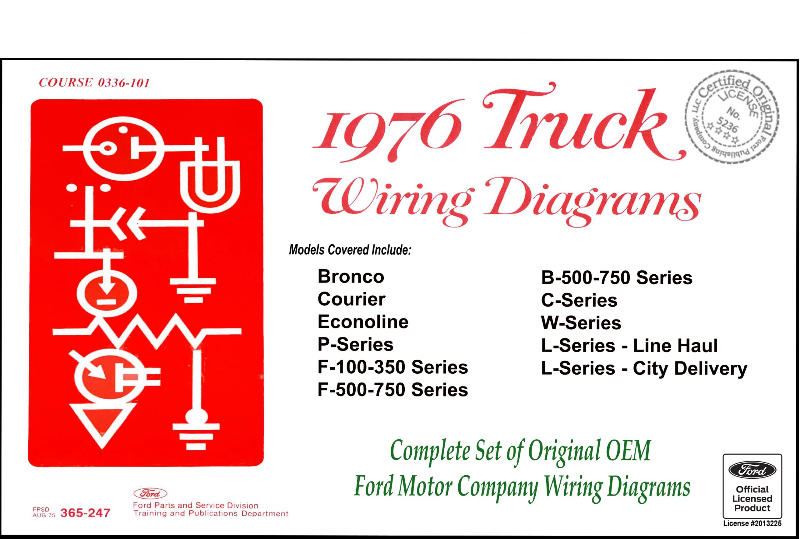 1976 Ford Truck Wiring Diagrams - Fordmanuals.com