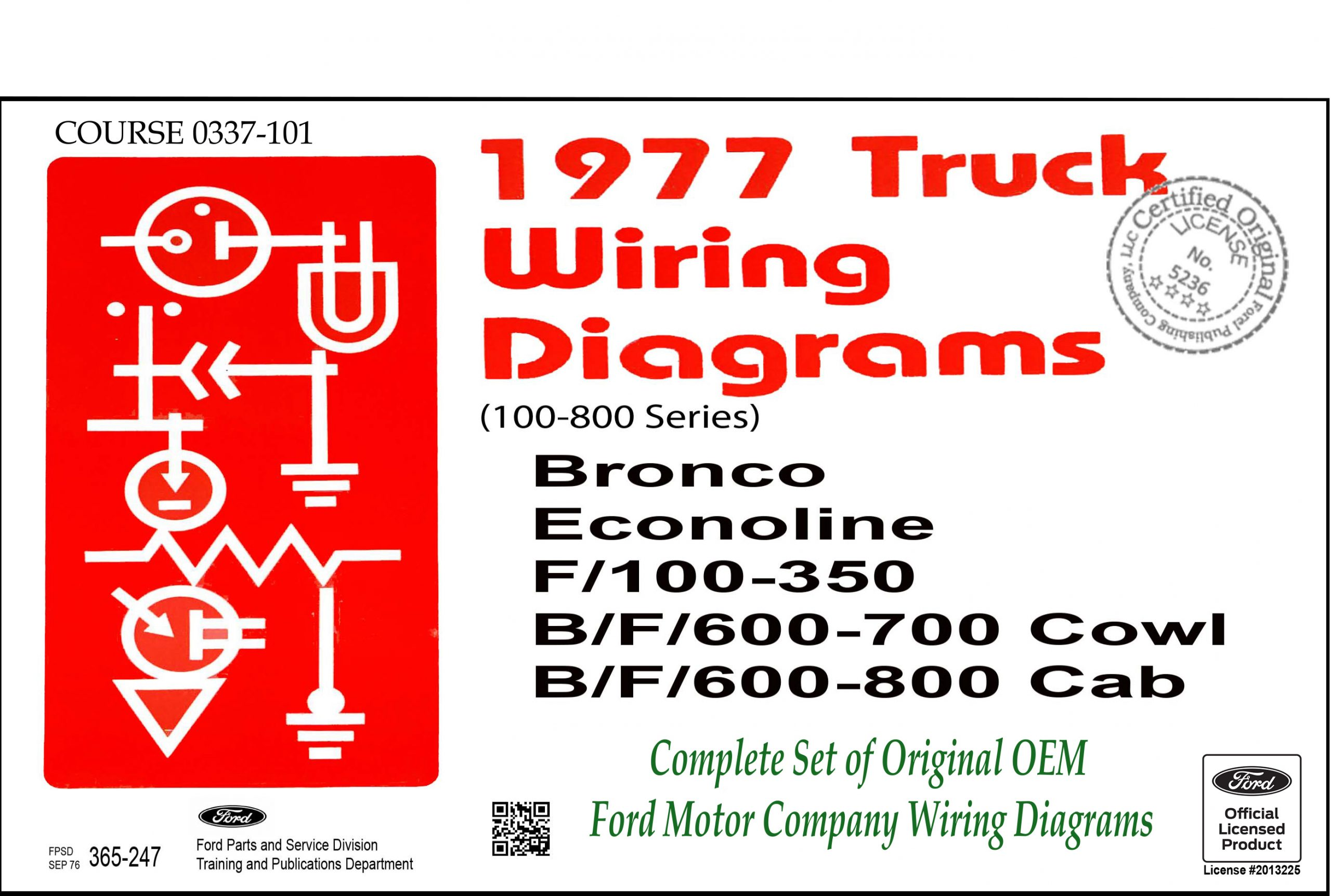 1977 Ford Truck Wiring Diagrams (100-800) - Fordmanuals.com